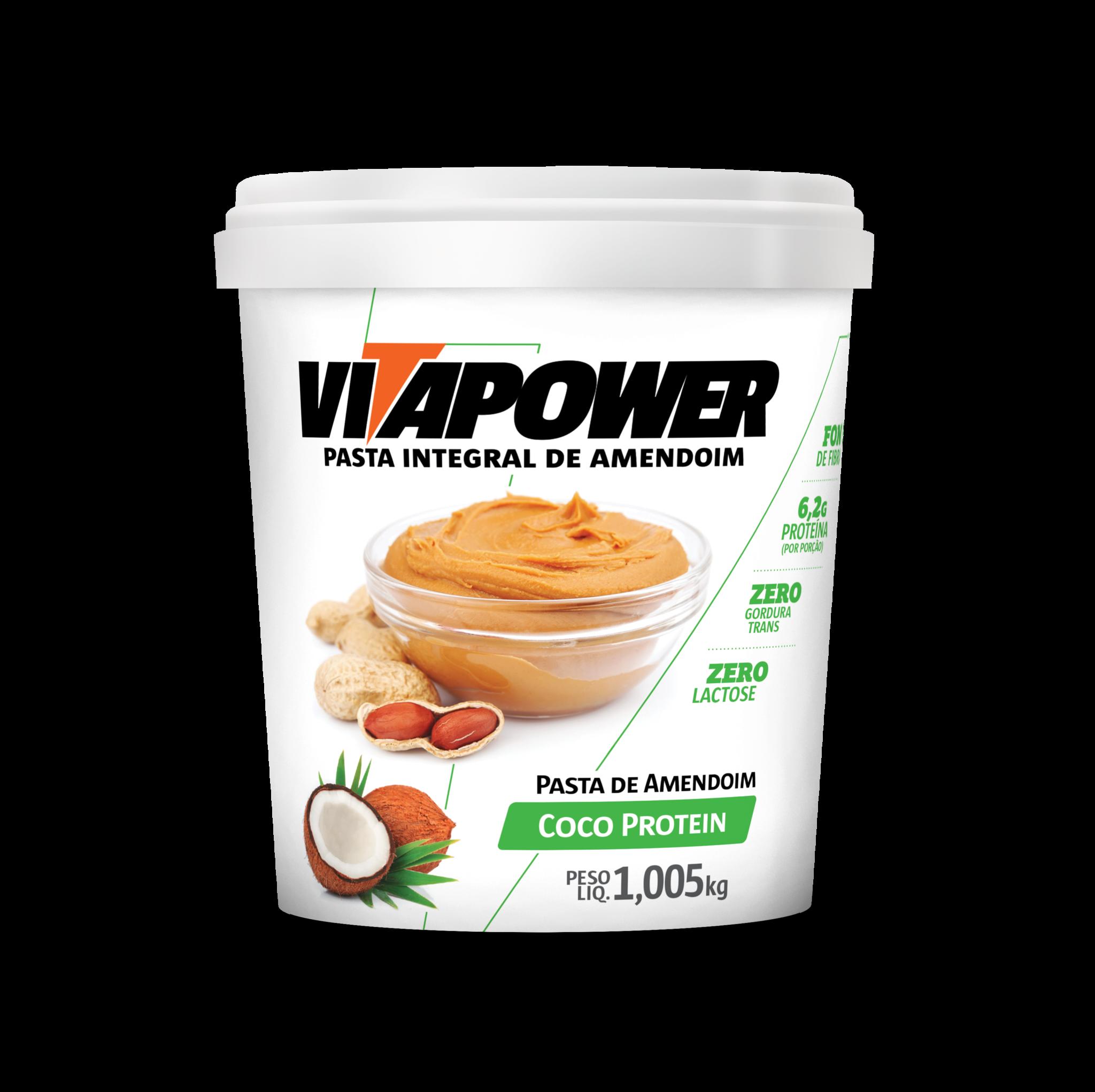 Pasta de Amendoin VitaPower Coco Protein