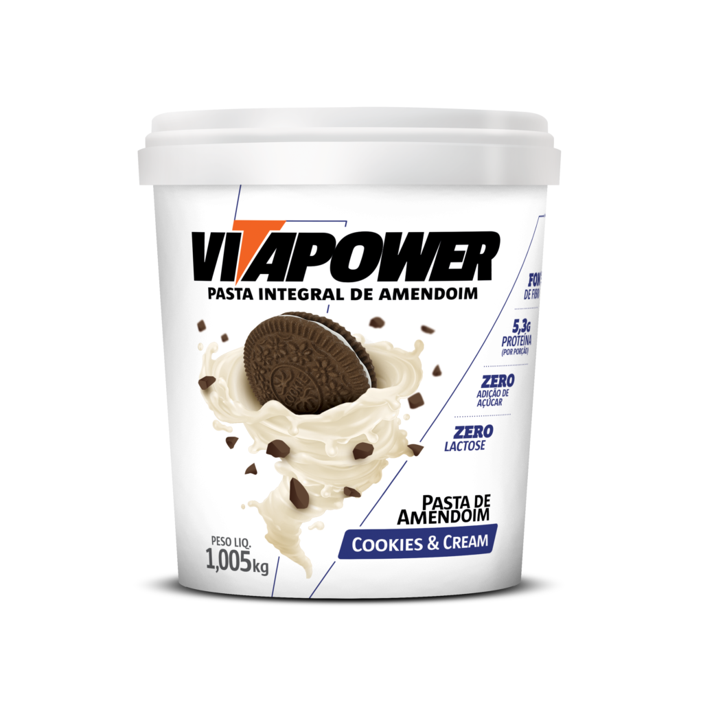 Pasta de Amendoin VitaPower Cookies & Cream