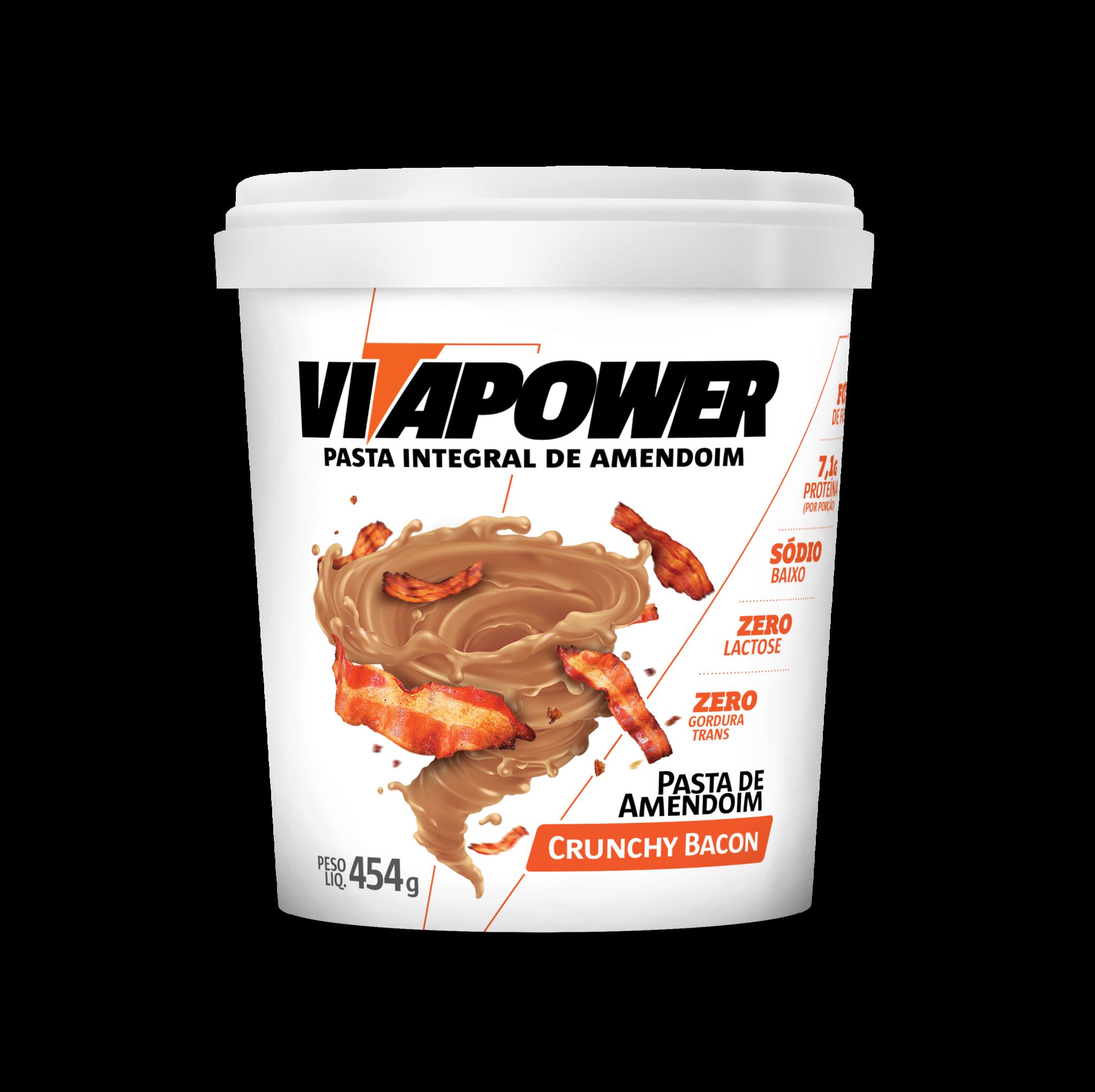 Pasta de Amendoin VitaPower Crunchy Bacon