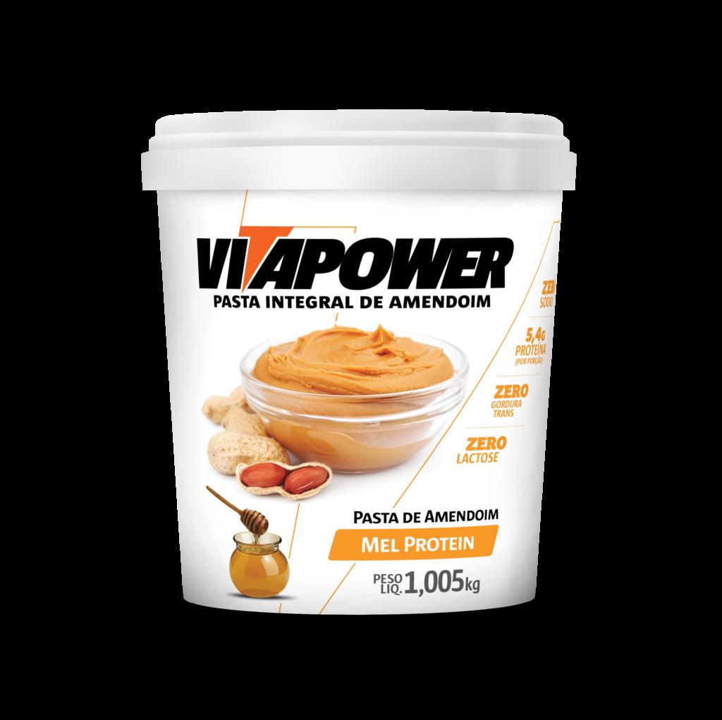 Pasta de Amendoin VitaPower Mel Protein