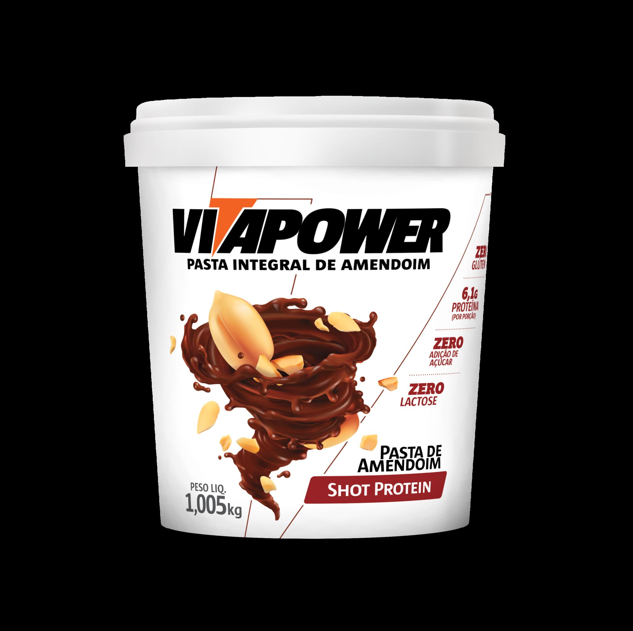 Pasta de Amendoin VitaPower Shot Protein